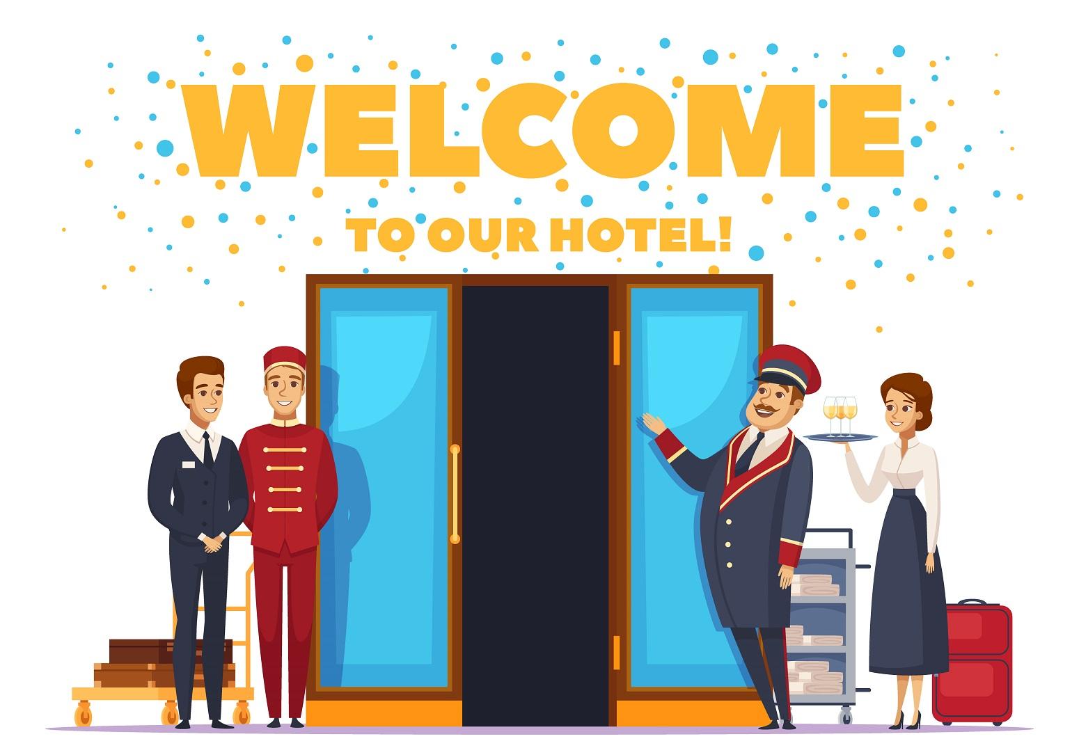 bienvenidos al hotel