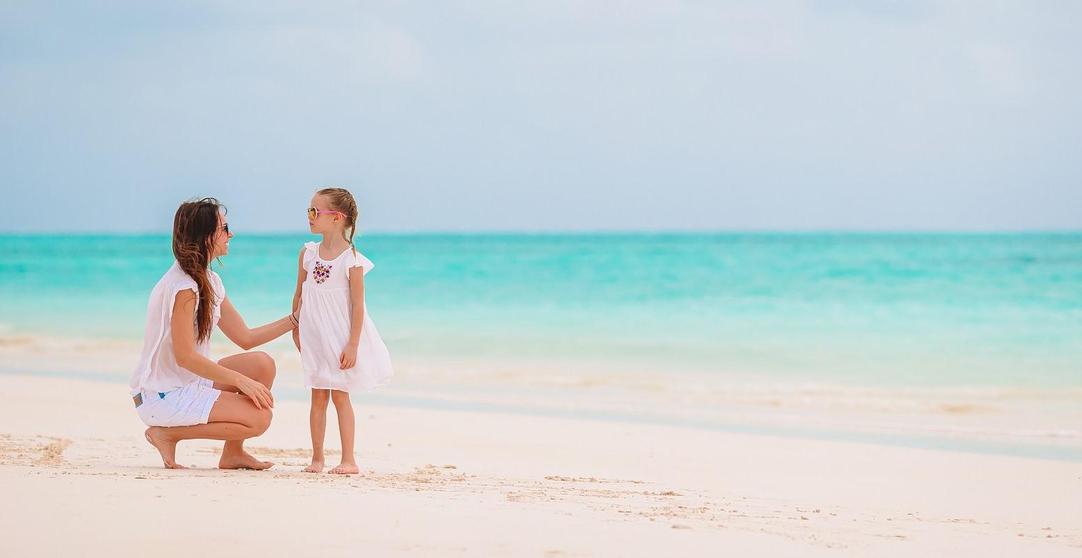 viajando al caribe familia monoparental