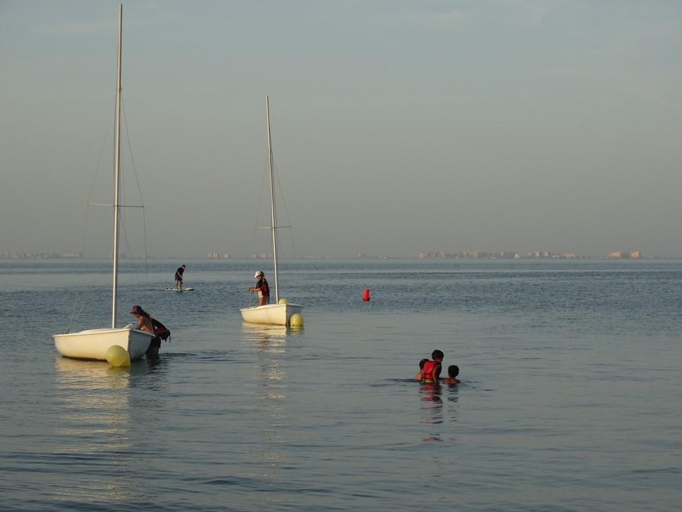 Pedro S El verano es Azul Atardecer de relax en el Mar Menor