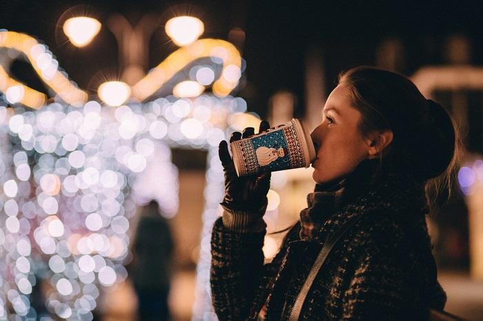 un cafe en navidad